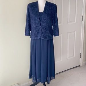 EUC Alex Evenings 2-Piece Embellished Dress/Jacket